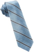 The Tie Bar Slate Blue Kennedy Stripe Tie
