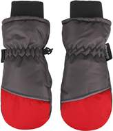 ANDORRA Boys Color Block Weather-Proof Thinsulate Snow Ski Mittens, Long Snow Cuff ,S