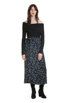 Country Road Winter Floral Wrap Skirt