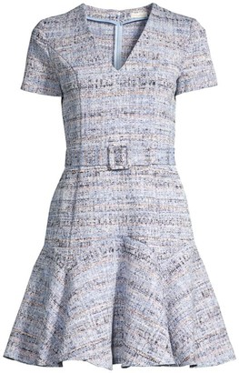 Shoshanna Mallorie Tweed Flounce Dress