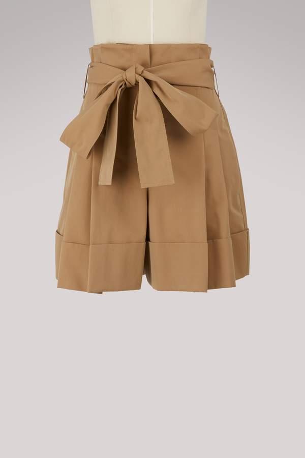 Alexander McQueen Wide-leg bow shorts