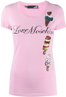 Love Moschino embellished ice cream T-shirt