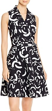 T Tahari Fit & Flare Midi Dress
