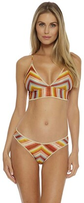 Becca by Rebecca Virtue Horizon Skyler Metallic Halter (Adobe) Women's Swimwear