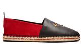 Fendi Faces suede and leather espadrilles