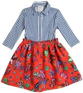 Stella Jean Printed Wax Cotton & Poplin Dress