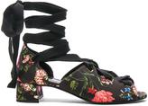 Erdem Riyeka Convertine Mid Heel Sandals