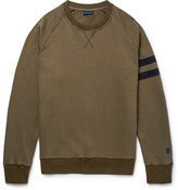 Lanvin Grosgrain-trimmed Distressed Cotton-jersey Sweatshirt