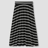 Cat & Jack Girls' Striped Maxi Skirt Cat & Jack - Black