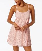 Emerald Sundae Juniors' Lace Slip Dress