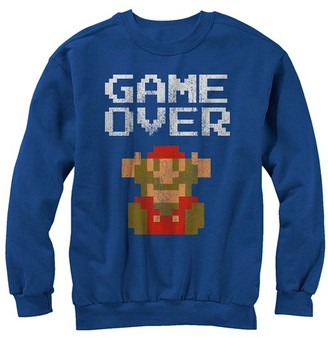 Fifth Sun Pullover Sweaters ROYAL - Super Mario 'Game Over' Sweatshirt - Adult
