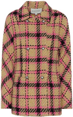 Etro Plaid wool-blend jacket