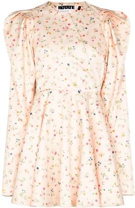 Rotate by Birger Christensen Pauline floral-print mini dress