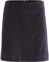 Oxford Velvet Skirt Petrol Blu X