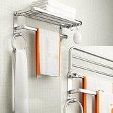 KHSKX Space aluminum Towel Bar double Towel rack bathroom Towel rack bathroom toilet wall-mounted racks