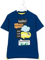 Fendi print T-shirt - kids - Cotton - 8 yrs