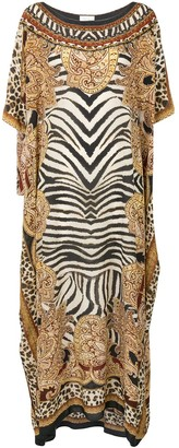 Camilla Abstract Round-Neck Kaftan