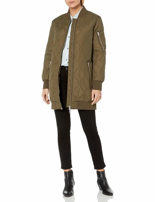 French Connection Women's Ardis Puffer Bomber Jacket