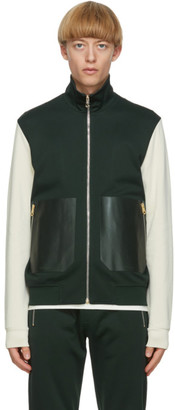 Paul Smith Green and Off-White Contrast Track Jacket