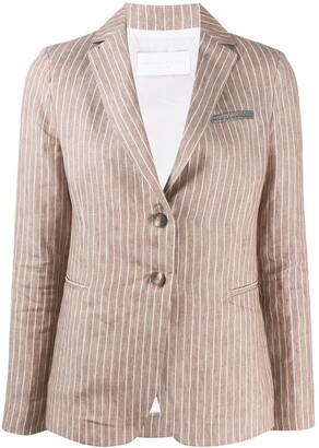 Fabiana Filippi Striped Single Breasted Blazer