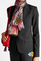 Etro Printed Scarf with Linen and Silk