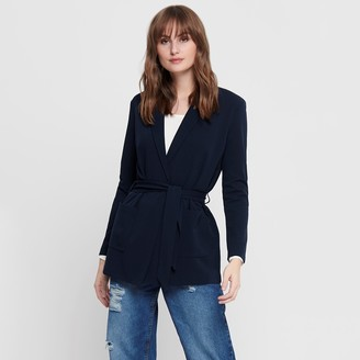 Jacqueline De Yong Tailored Collar Jacket with Tie Front