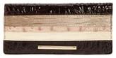 Brahmin Women's Ady Embossed Leather Wallet - Beige