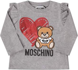 Moschino Grey Babygirl T-shirt With Teddy Bear