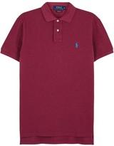 Polo Ralph Lauren Orange Custom Piqué Cotton Polo Shirt