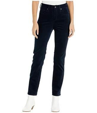 Silver Jeans Co. High Note High-Rise Slim Leg Corduroy Pants (Navy) Women's Casual Pants