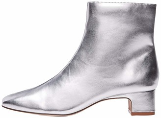 Find. Women's Block Heel Square Toe Ankle Boots Silver (Silver Silver) 3 UK (36 EU)