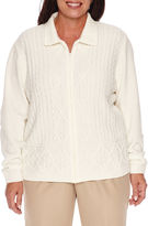 Alfred Dunner Twilight Point Long Sleeve Cardigan-Plus