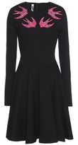 McQ by Alexander McQueen Embroidered Cotton Jersey Dress