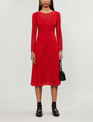 Claudie Pierlot Rabonie floral stretch-lace midi dress