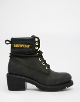CAT Footwear Ottawa Black Heeled Leather Ankle Boots