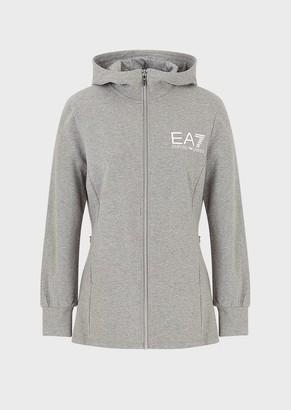 Ea7 Oversized Sweatshirt With Hood And Drawstring