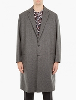 Marni Grey Virgin Wool Overcoat