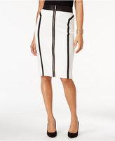 Thalia Sodi Zip-Front Scuba Pencil Skirt, Only at Macy's