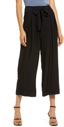 ALL IN FAVOR Belted Wide Leg Pants