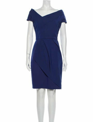 Lela Rose Asymmetrical Knee-Length Dress Rose
