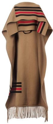 Burberry Striped Wool-Blend Cape