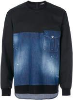 DSQUARED2 denim panel sweatshirt