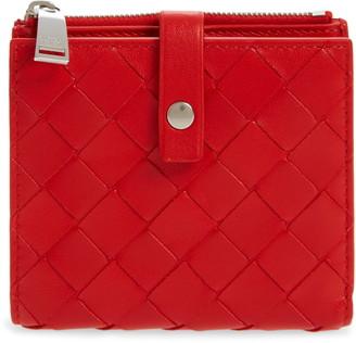 Bottega Veneta Intreciato Leather French Wallet