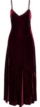 Nicholas Fluted Velvet Maxi Dress