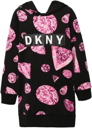 DKNY Hooded Logo Dress (6-16 Years)