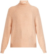 Frame Roll-neck brushed-knit sweater