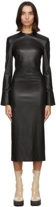 Stand Studio Black Faux-Leather Juno Dress