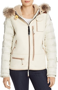Parajumpers Tanisha Mixed Media Fur Trim Jacket - 100% Exclusive