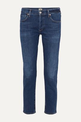 Citizens of Humanity Emerson Cropped Slim Boyfriend Jeans - Dark denim