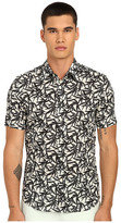 Marc Jacobs Layered Leaf Slim Short Sleeve Button Up